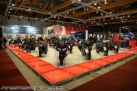 Exclusieve biker parade naar het auto-moto salon 2015